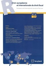 Revue européenne et internationale de droit fiscal